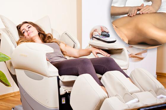 Fotoliu de masaj acasă sau masaj la salon?