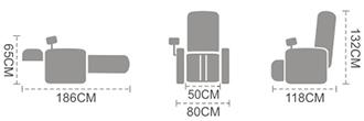 dimensiuni fotoliu Komoder KM102