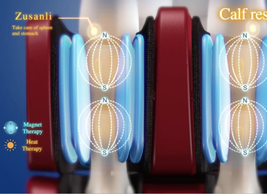 masaj prin presiune pt. picioare la fotoliul Komoder KM500L