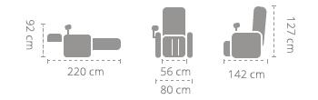 dimensiuni fotoliu Komoder KM7800