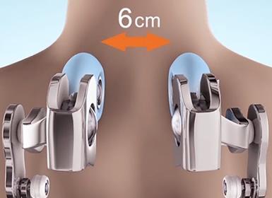 Raza masajului pentru spate la fotoliul iRest A87-1